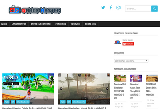 Website gamermaster.com.br desktop preview