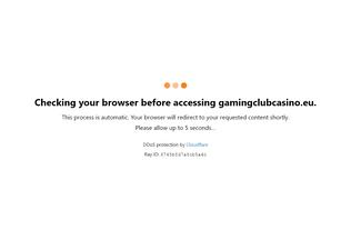 Website gamingclubcasino.eu desktop preview