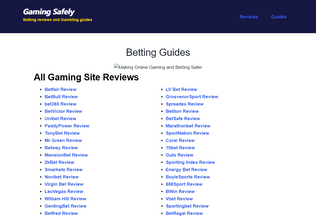 Website gamingsafely.com desktop preview