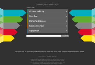 Website gaurangacademy.org.in desktop preview