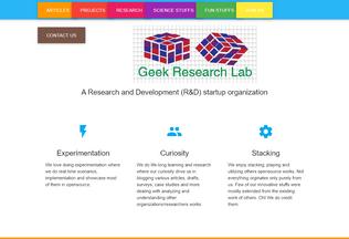 Website geekresearchlab.net desktop preview