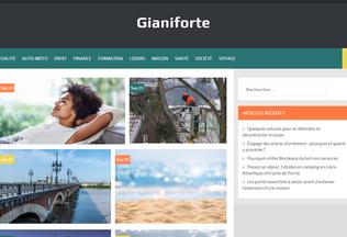 Website gianiforte.fr desktop preview