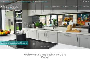 Website glassdesign.uk desktop preview