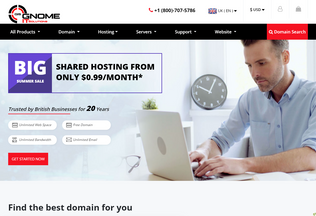 Website gnomeitsolutions.co desktop preview
