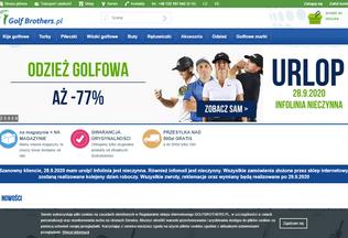 Website golfbrothers.pl desktop preview