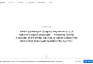 Website google.org desktop preview