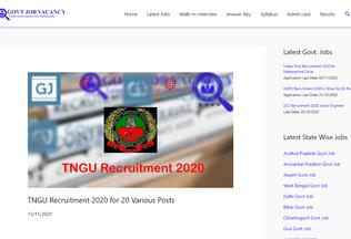 Website govtjobvacancy.in desktop preview
