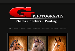 Website gphotography.co.za desktop preview