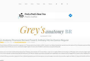Website greysanatomy.com.br desktop preview