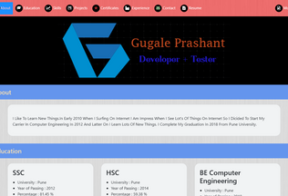 Website gugaleprashant.ga desktop preview
