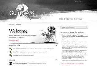 Website gw2archive.eu desktop preview