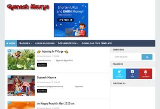 Website gyaneshmauryag.blogspot.com desktop preview