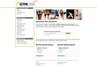 Website gymlink.co.nz desktop preview