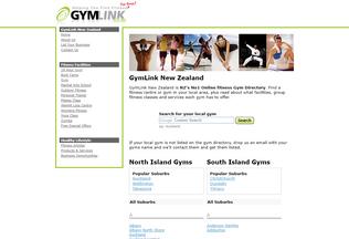 Website gymlink.co.nz desktop preview