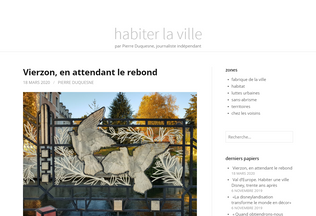 Website habiterlaville.fr desktop preview