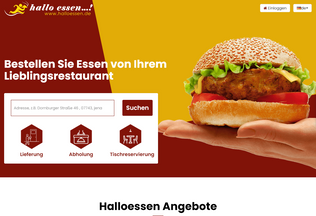 Website halloessen.de desktop preview