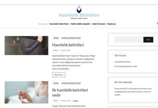 Website hamilelikbelirtileri.gen.tr desktop preview