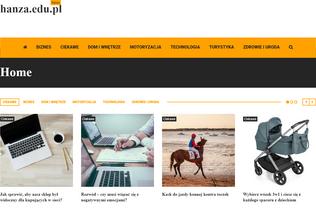 Website hanza.edu.pl desktop preview
