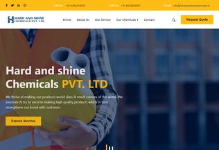 Website hardandshinechemicals.in desktop preview