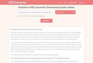 Website hdconverter.co desktop preview