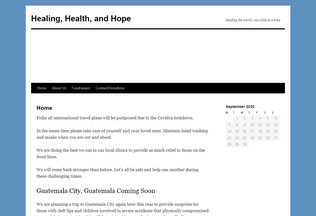 Website healinghealthandhope.org desktop preview