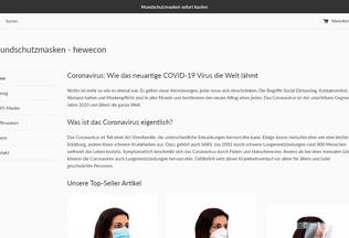 Website hewecon.de desktop preview