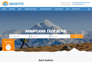 Website himalayanfrozen.com desktop preview