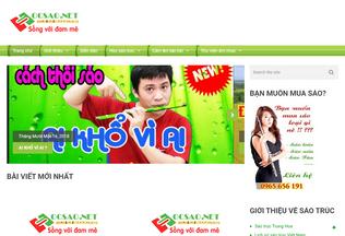 Website hocsao.net desktop preview