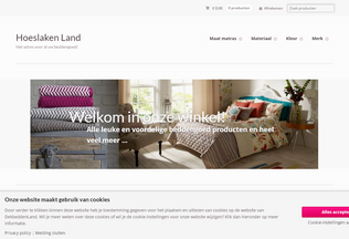 Website hoeslakenland.nl desktop preview