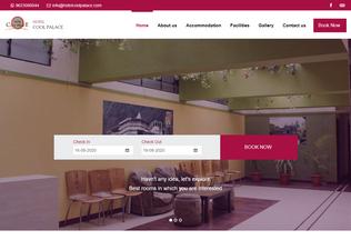 Website hotelcoolpalace.com desktop preview