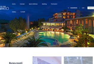 Website hoteltermecapasso.com desktop preview