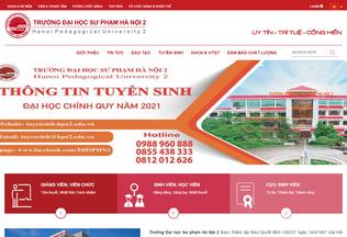 Website hpu2.edu.vn desktop preview