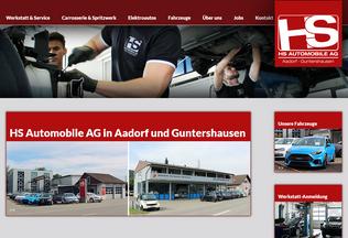 Website hs-auto.ch desktop preview