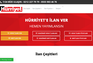 Website hurriyetilan.com.tr desktop preview