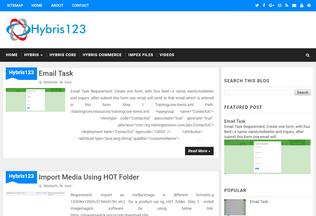 Website hybris123.ml desktop preview