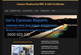 Website ianscaravanrepairs.com desktop preview