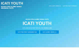 Website icati-youth.org desktop preview