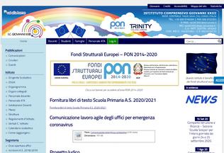 Website icgiovanni23sava.edu.it desktop preview