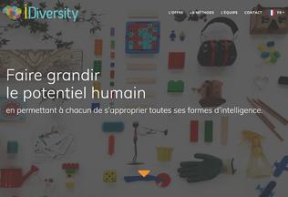Website idiversity.cc desktop preview