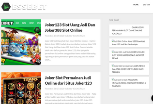 Website idjoker123.org desktop preview