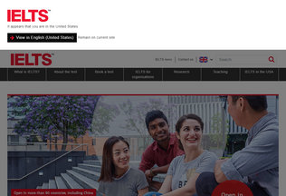 Website ielts.org desktop preview