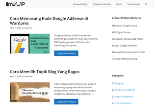 Website ilmuwp.com desktop preview