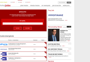 Website immojobs.at desktop preview
