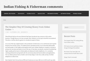 Website indianfishing.in desktop preview