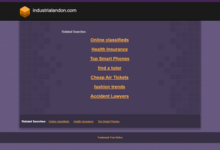 Website industrialandon.com desktop preview
