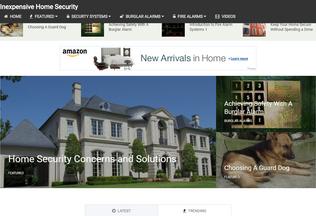 Website inexpensivehomesecurity.com desktop preview