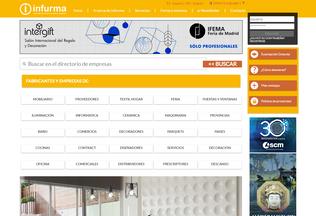 Website infurma.es desktop preview