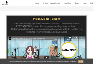 Website inlineasportstudio.it desktop preview