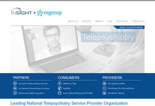 Website insighttelepsychiatry.com desktop preview
