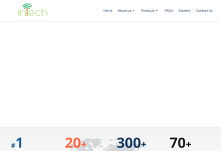 Website intech.org desktop preview